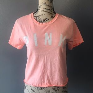 Victoria's Secret PINK Short Sleeve Cropped Tee
